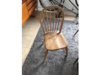 Free rickety vintage chair, works ok but needs fixing