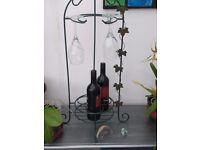 wine and wine glass rack