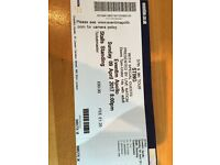 One standing stalls ticket for Sting concert bought from stub hub but my friend unable to attend