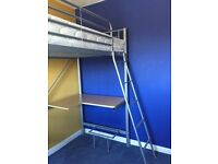TESCO Mika HIGH SLEEPER Single Bed With DESK and SHELVES