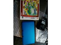 Nintendo 3DS XL big latest metallic blue model with game