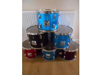 BARGAIN SIX TOM TOM DRUMS IDEAL FOR CLUBS/ GROUPS/ SCHOOLS