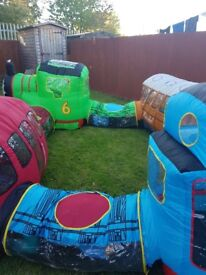 Large thomas the tank airflow inflatable playset