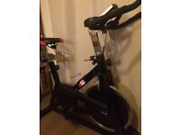 For sale spin exercise bike excellent condition like new