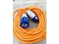 Electric hook up cable for campervan, caravan or motorhome