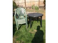 Free Garden table and 4x chairs