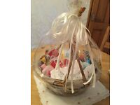 Baby shower gift basket.