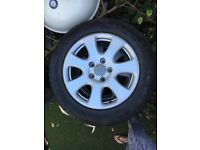 18 inch Audi Q7 alloys with part worn winter tyres