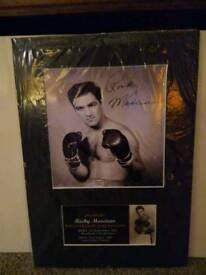 Signed boxing picture