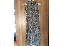 Atmosphere patterned midi dress
