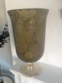 Beautiful large glass goblet
