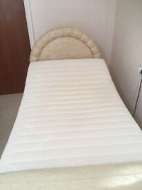 SOLD. Adjustable single bed with massage unit and pressure mattress.