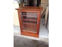 Bespoke Mahogany Hi Fi Cabinet for sale