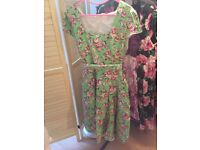 6 plus size ladies dresses size 28 some new with tags / designer