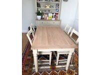 Neptune Suffolk dining table and chairs plus Chichester dresser
