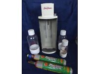RETRO SODASTREAM 'GEMINI' MACHINE WITH GAS & BOTTLES - STILL IN AS-NEW CONDITION