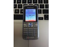 RARE RETRO Sony K610i Unlocked Mobile Phone in Urban Silver + Charger + Sim Card