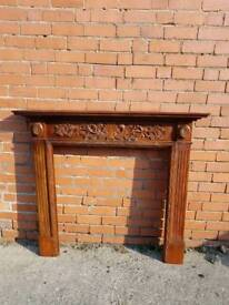 Solid Wooden fire surround. ☆ SOLD ☆