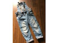 Girls NEXT Dungarees Aged 3-4 years
