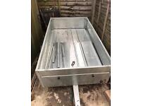 Caddy trailer 5ft by 3ft by 1ft deep. (150 by 86 by 30 cm)