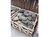 Rockery stone / slate rocks, walling
