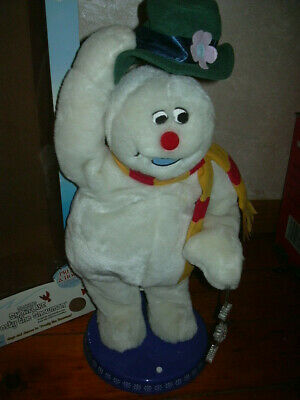 Gemmy Animated Frosty The Snowman Snowflake Spinning Singing Dancing w/box