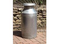 Milk churn 10 gallon, vintage, aluminium