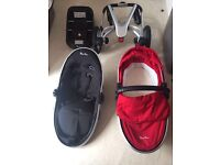 Silver Cross Surf 2 Pushchair System in Chilli Red for sale