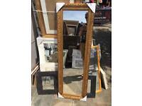 """full length fancy gold framed mirror 54""""x18"""""""