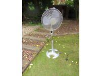 Large two speed standing fan