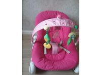 Baby bouncer pink