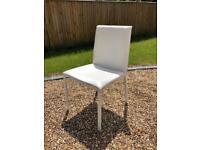 Habitat white leather chair