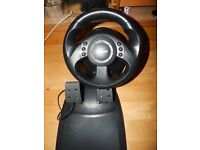 MS SideWinder PC Steering Wheel & Pedals - Ex Con and Working Perfectly - Rarely Used