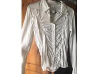 New shirt white stretchy