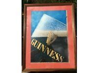 Framed Guiness Poster