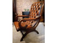 vintage chesterfield leather chair