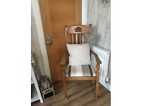Large oak chair