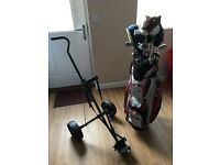 GOLF CLUBS AND TROLLEY!
