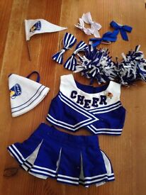 'Build a bear' cheerleader outfit and accessories