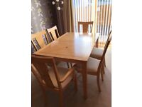 Dining Room Extending Table, Chairs and Matching Sideboard. SOLD Pending Collection