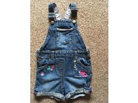 Blue Zoo Dungarees age 3-4yrs