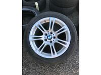 18 inch BMW m sport alloys with very good tyres