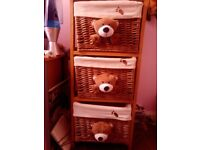 set of drawers with teddy bear heads