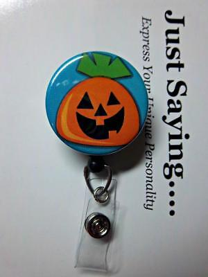 Cute Jack-o-lantern for Halloween  LIMITED EDITION Retractable Reel ID Badge