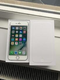 Iphone 6 16gb silver on o2 /Giff gaff and Tesco (mint condition