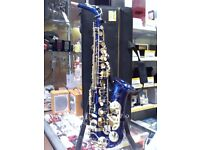 BLUE AND GOLD SAXOPHONE ELKHART BY VINCENT BACH INTERNATIONAL 100ASBL