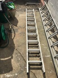 Set of alliminium double ladders for sale