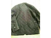 """Men's genuine Barbour Powell Quilted Padded Jacket. Black Large L 40"""""""