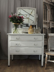 Shabby chic oak Edwardian dressing table by Eclectivo