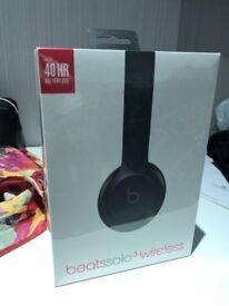 New: Beats by Dr. Dre Solo3 Wireless On-Ear Headphones - Black